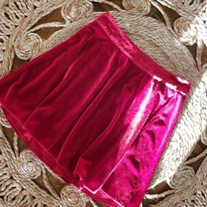 Tobi Velvet Skirt